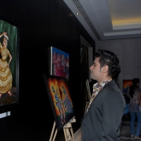 indian-mouth-and-foot-painting-art-exhibition-photos-1