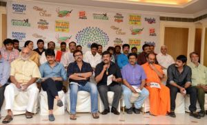 Tollywood stars at Memu Saitham Press Meet Photos - IBO