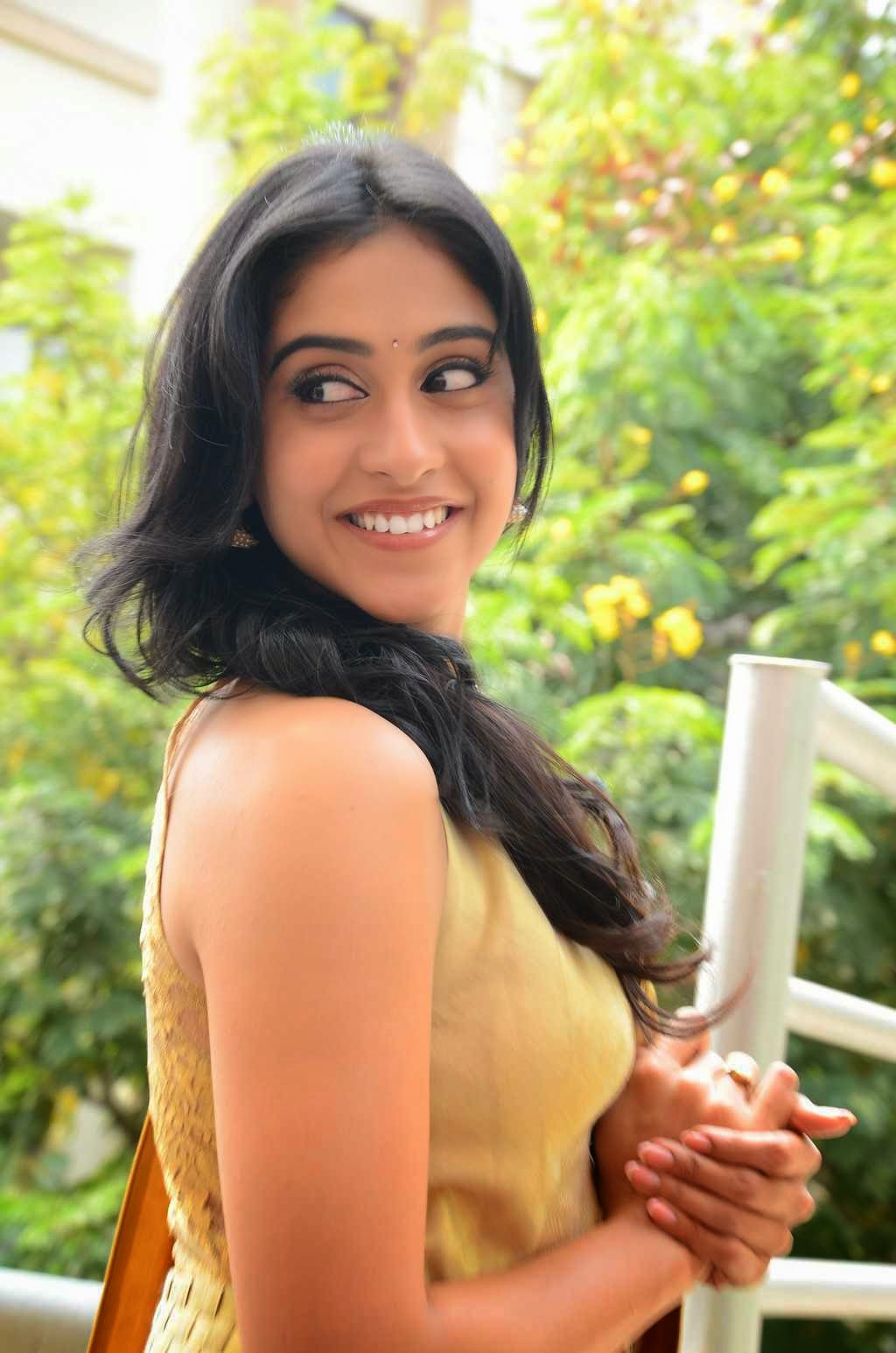 Actress Regina Cassandra Latest Cute Hot Exclusive Beautiful Yellow Dress Spicy Photos Gallery At Subramanyam For Sale Telugu Movie Press Meet (27)