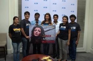 Kajal-Aggarwal-At-Peta-Campaign4