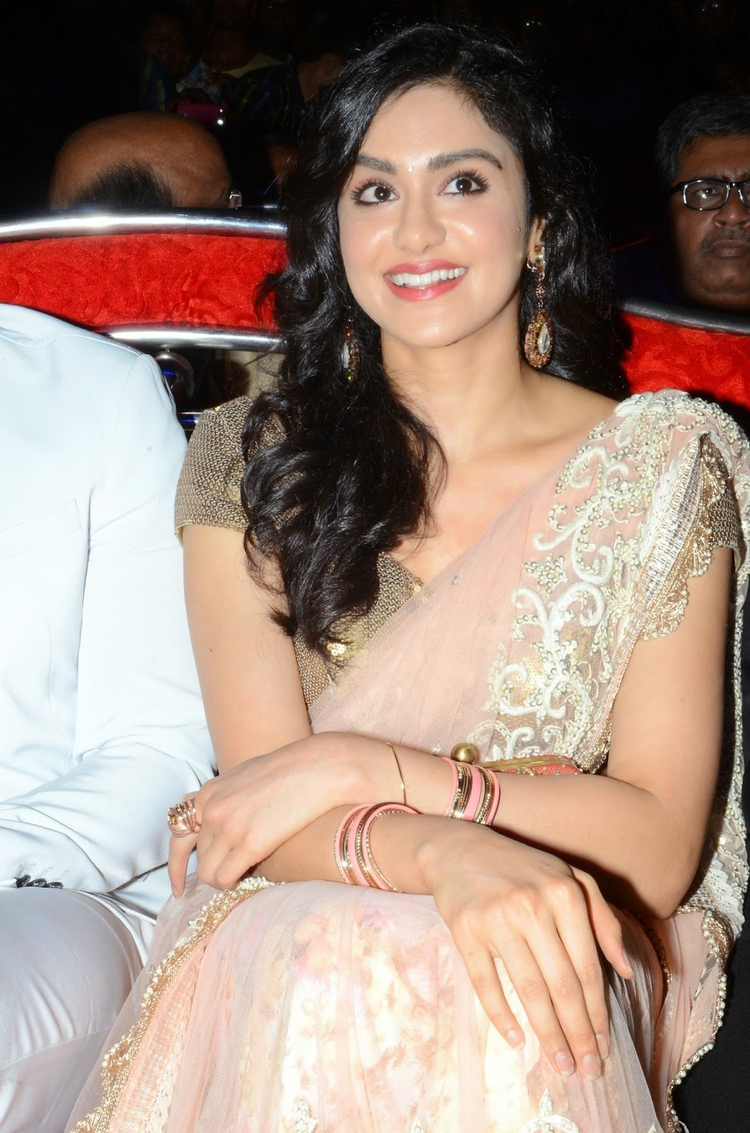 Adah Sharma Saree Photos at SOS Audio Success Meet (1)